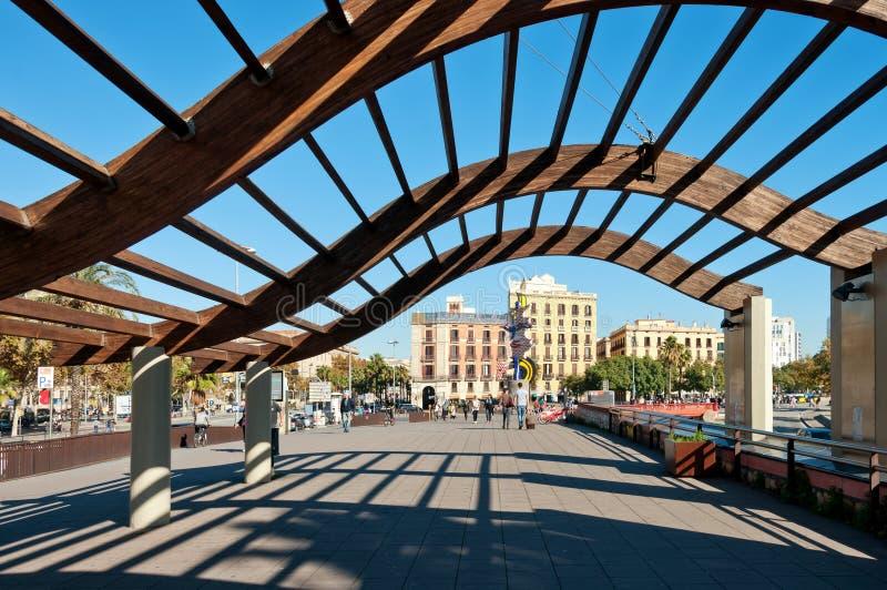 Area di porto di Barcellona immagine stock