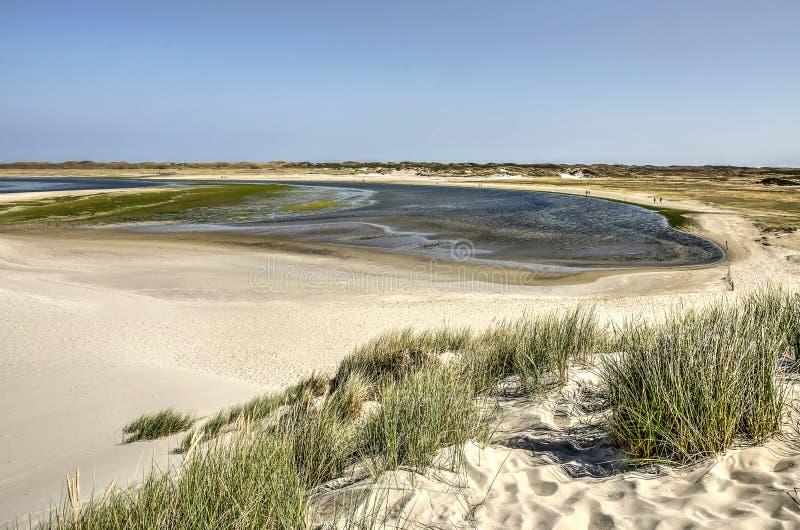 Area di Slufter veduta da una duna di sabbia fotografia stock libera da diritti