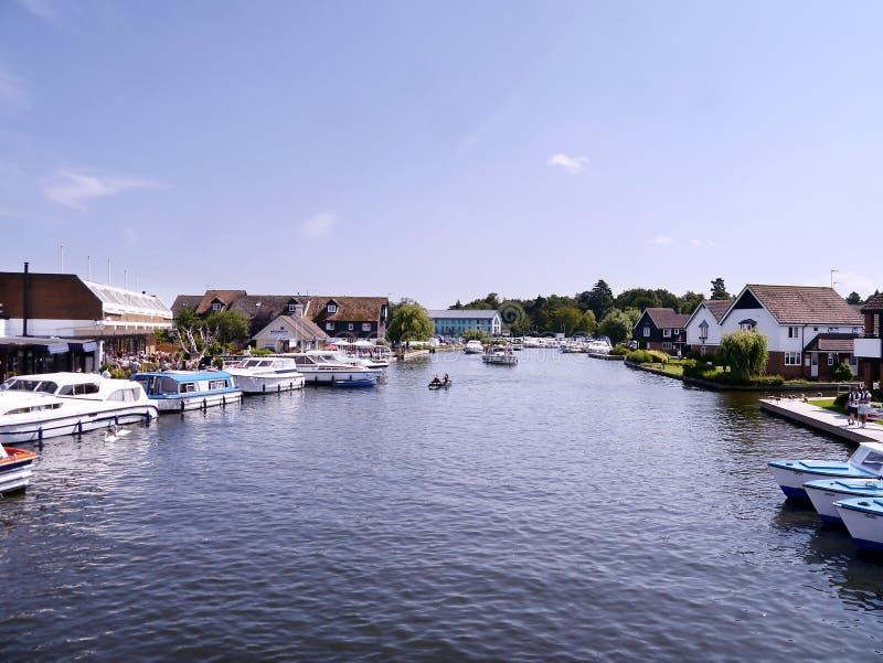 Area di Wroxham, Norfolk Broads, Inghilterra fotografie stock libere da diritti