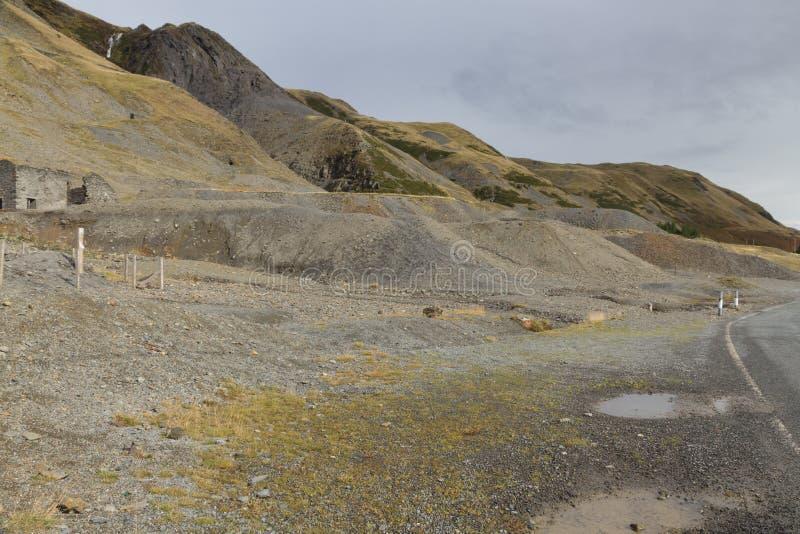 Area estraente Cwmystwyth, Galles del cavo in disuso fotografia stock libera da diritti