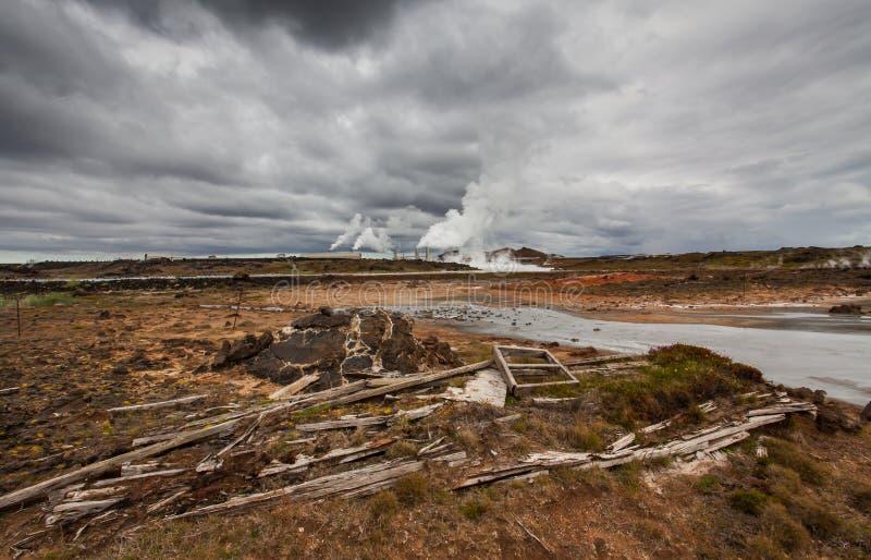 Area geotermica attiva immagine stock libera da diritti