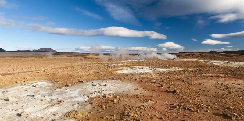 Area geotermica Hverir, immagine stock libera da diritti
