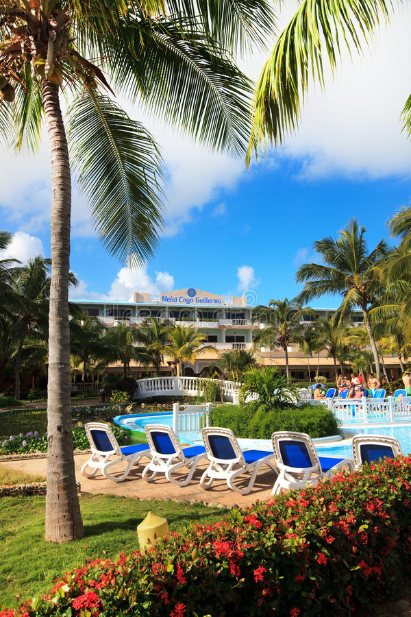 Area of hotel Melia Cayo Guillermo. royalty free stock images