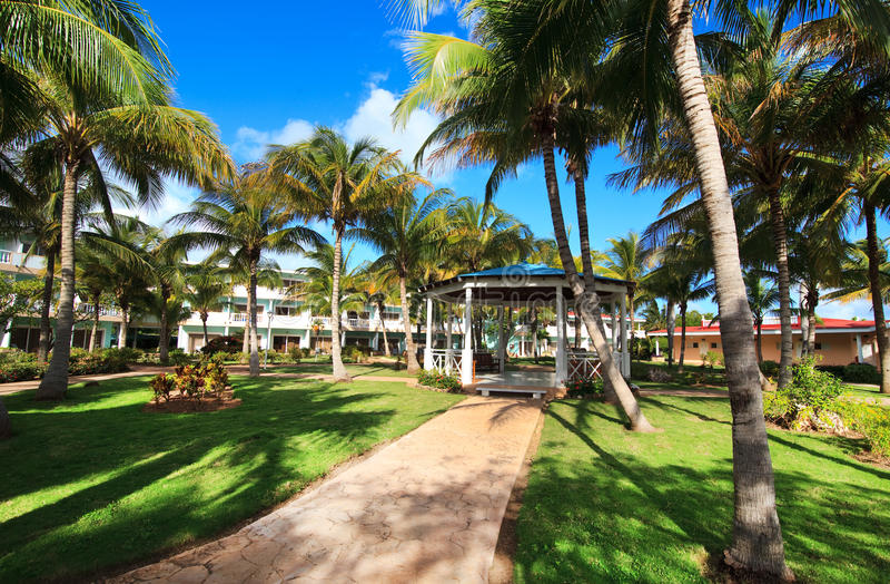 Area of hotel Melia Cayo Guillermo. royalty free stock photos