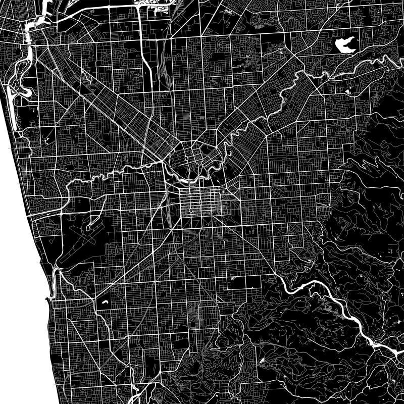 download area map of adelaide australia stock vector illustration of design print