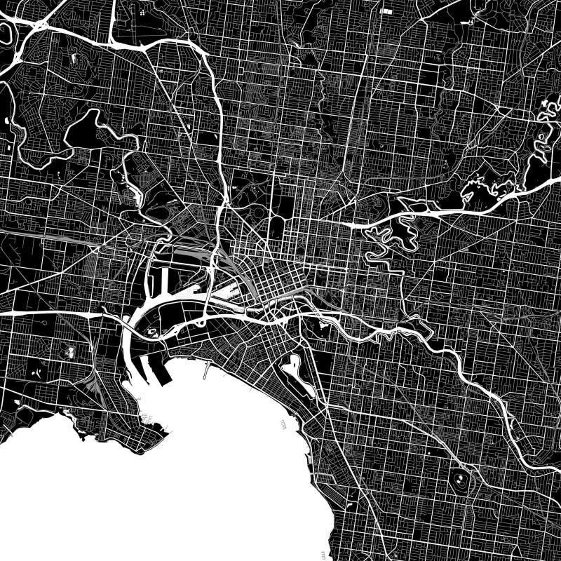 download area map of melbourne australia stock vector illustration of australia color