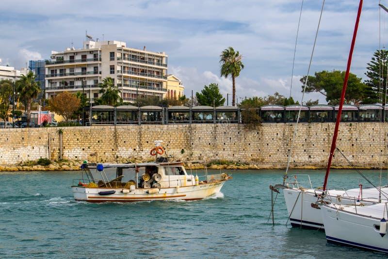 The city of Piraeus royalty free stock photo
