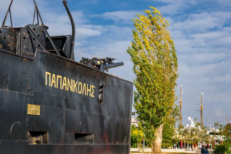 The city of Piraeus stock image