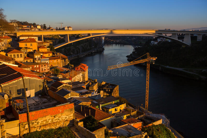 Download Area Near Douro River In The Sunset Rays, Porto Stock Photo - Image: 83717033