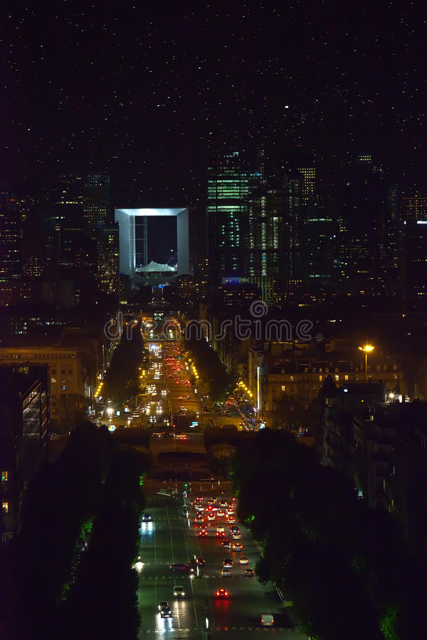 Area New Paris - la defense at night. A kind from