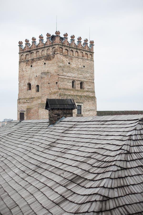 Area of old Lubart castle in Lutsk Ukraine. Area of old Lubart castle in cold spring Lutsk Ukraine stock image