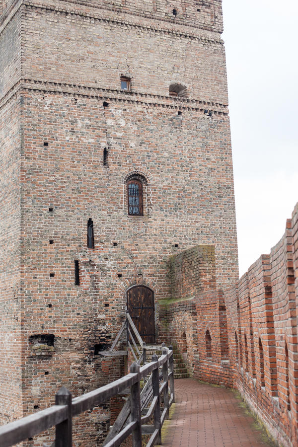 Area of old Lubart castle in Lutsk Ukraine. Area of old Lubart castle in cold spring Lutsk Ukraine royalty free stock photography