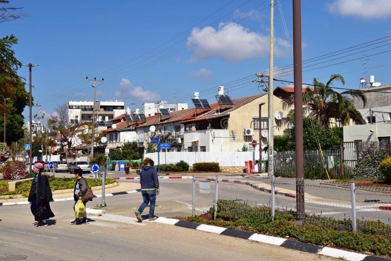 Area residenziale di Herzliya fotografie stock