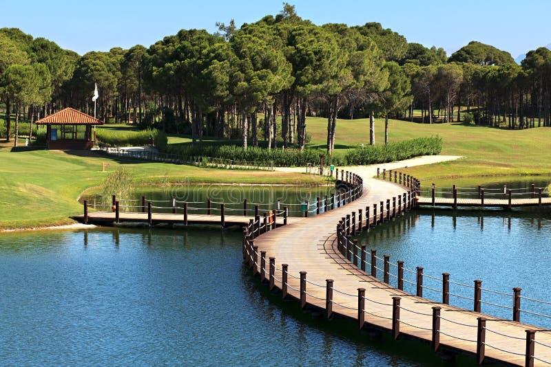 Download Area of Sueno Golf Club. stock image. Image of artificial - 21003525