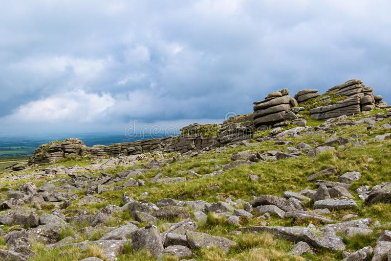 Belstone Tor on Dartmoor. The area surrounding Belstone Tor in Dartmoor National Park, Devon, United Kingdom royalty free stock images