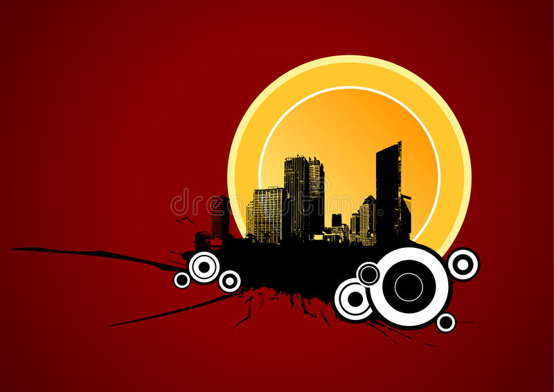 Area urbana. Arte di vettore royalty illustrazione gratis