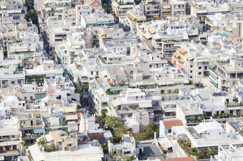 Area vivente densa a Atene, Grecia fotografia stock libera da diritti