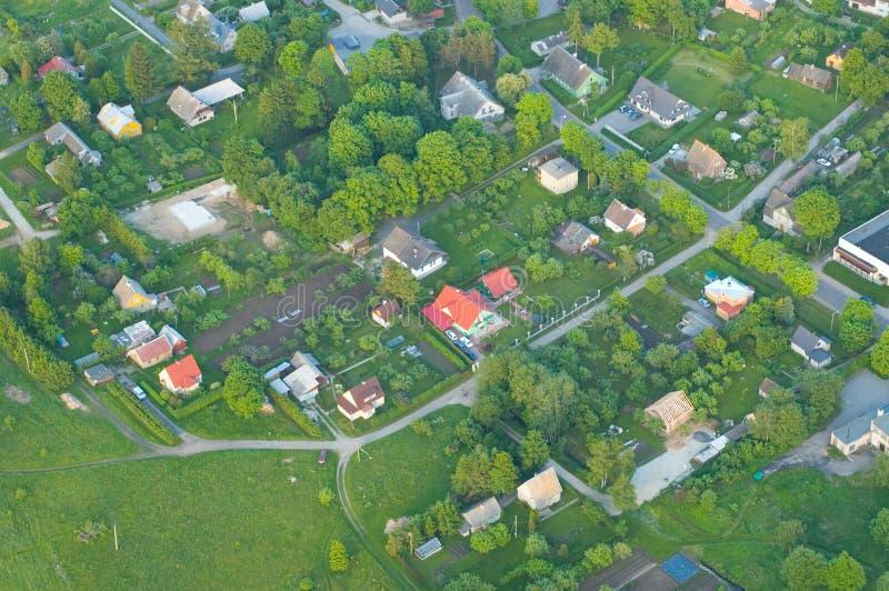 areal bosättningsikt royaltyfria bilder