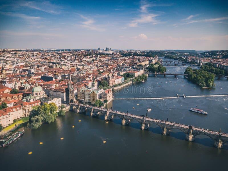 Areal strzał Praga stary miasteczko zdjęcie royalty free