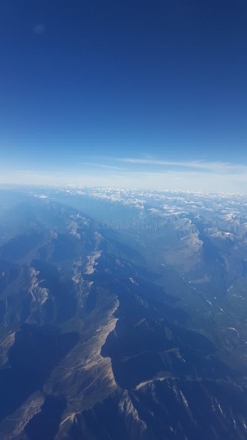 Areal Veiw av F. KR. Rocky Mountains arkivbild