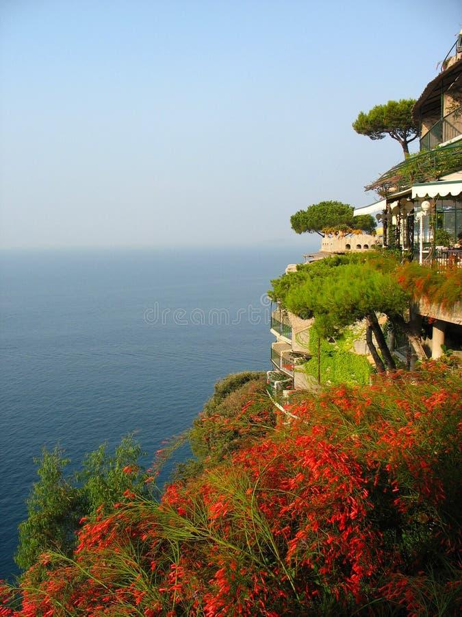 Areal widok od sławnego Il San Pietro Di Positano hotelu obrazy stock