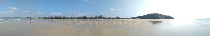 Areia branca da praia de Cherating Pahang imagem de stock royalty free