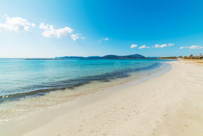 Areia branca em Alghero Lido fotos de stock