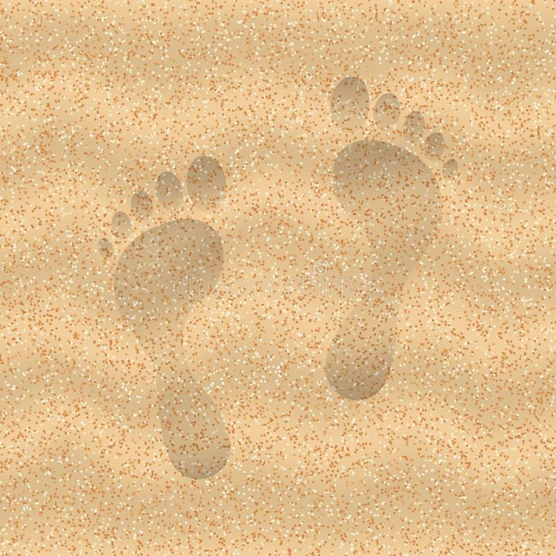 Areia da praia ilustração royalty free