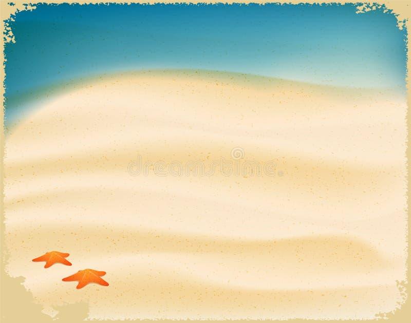 Areia da praia ilustração do vetor