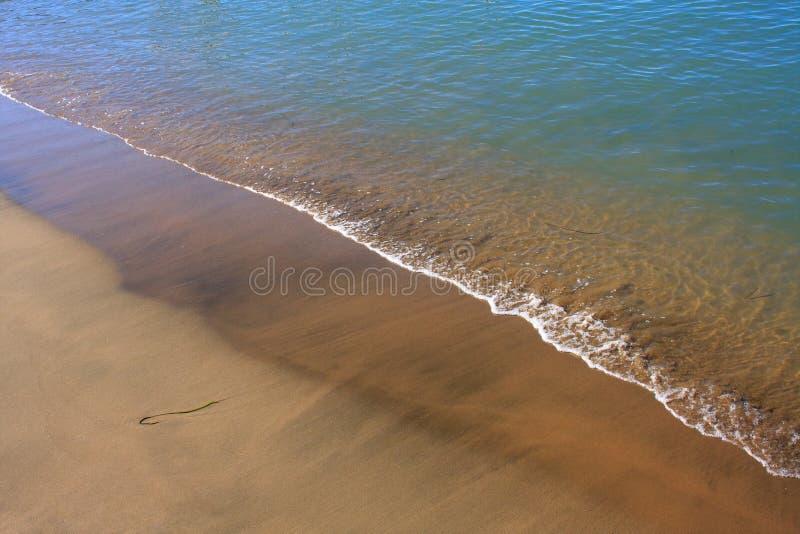 Areia da praia - mar do Cararibe imagem de stock royalty free