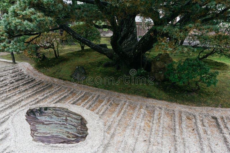Areia de Ginshadan, jardim do zen, templo de Ginkakuji, Kyoto, Japão imagem de stock royalty free