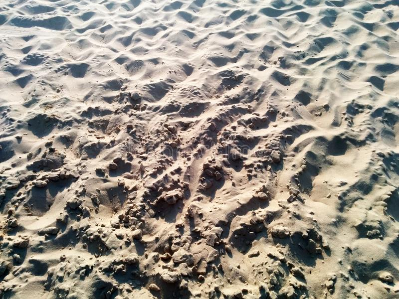 Areia fresca na praia fotos de stock royalty free