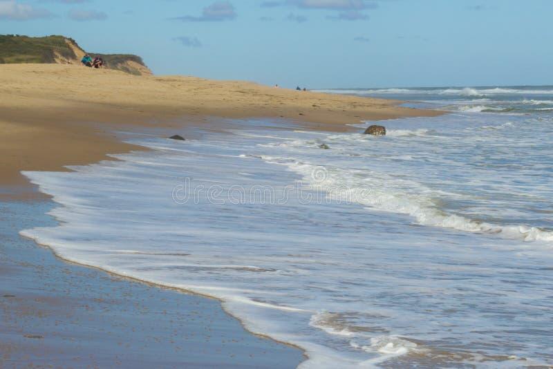areia na praia em Cape Cod imagens de stock