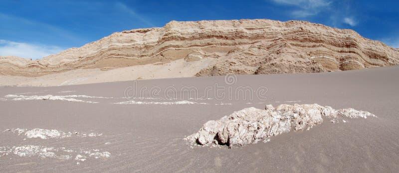 Areia no la Luna de Valle de, vale da lua no deserto de San Pedro de Atacama imagem de stock
