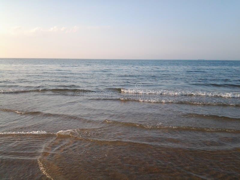 Areia Oceanview da manhã do nascer do sol fotografia de stock