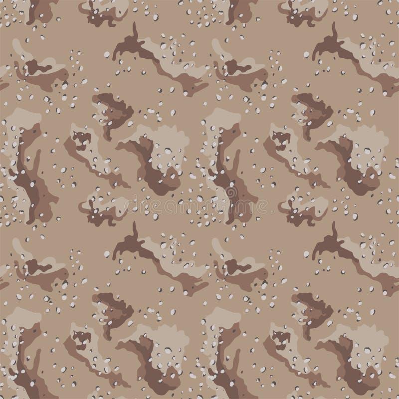 Areia sem emenda da camuflagem abstrata do deserto do teste padrão ilustração stock