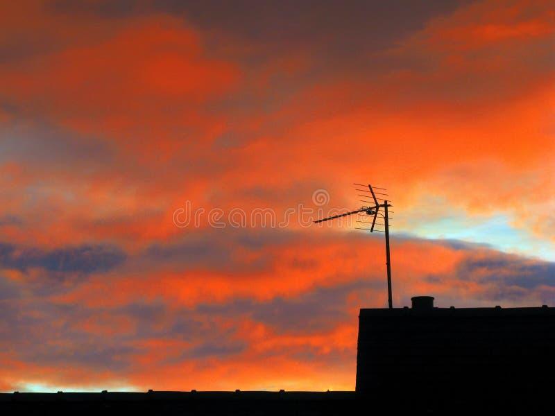 Areial,指向入黎明太阳 图库摄影