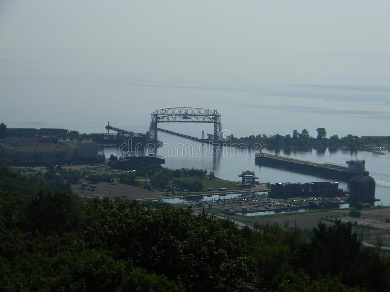 Aerial lift bridge royalty free stock image