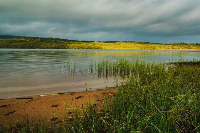 Areias brancas, Lough Graney imagens de stock