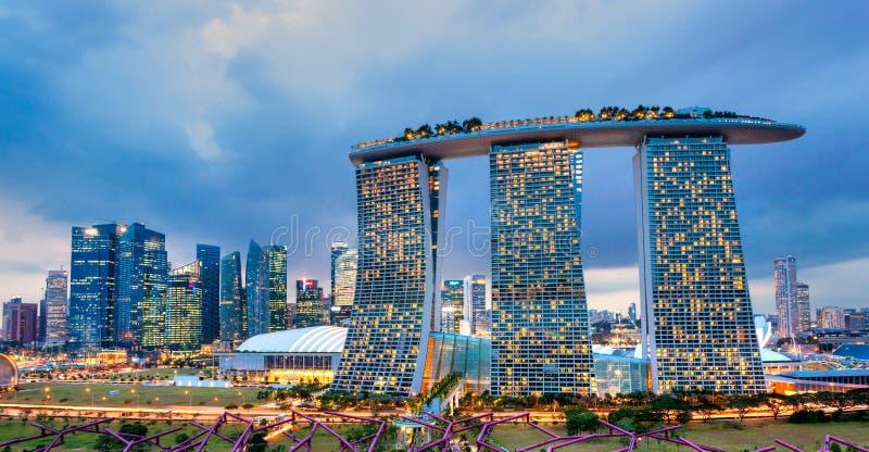 Areias da baía do porto, Singapura, fotografia de stock royalty free