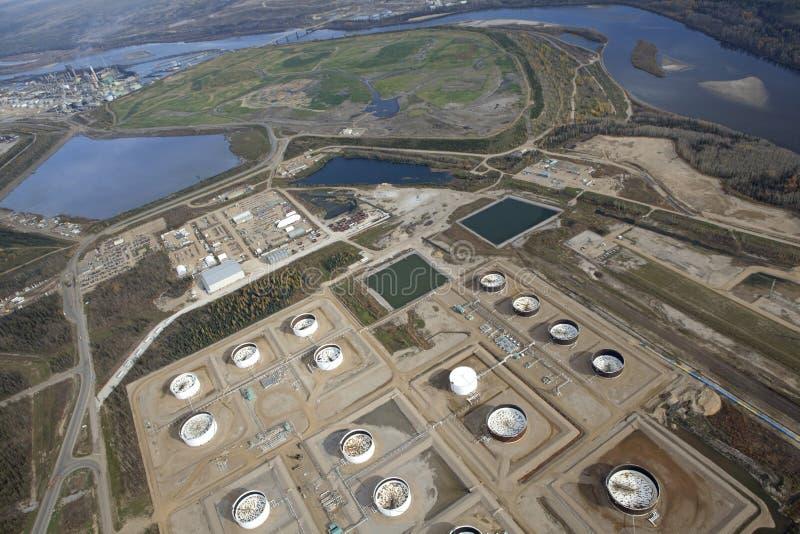 Areias de óleo de McMurray em Alberta, Canadá fotografia de stock royalty free