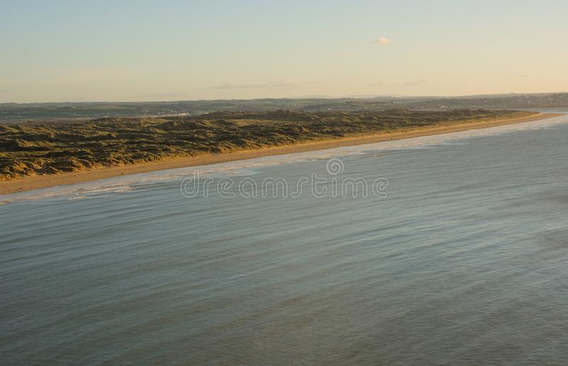 Areias de Saunton em Devon norte, Inglaterra fotografia de stock