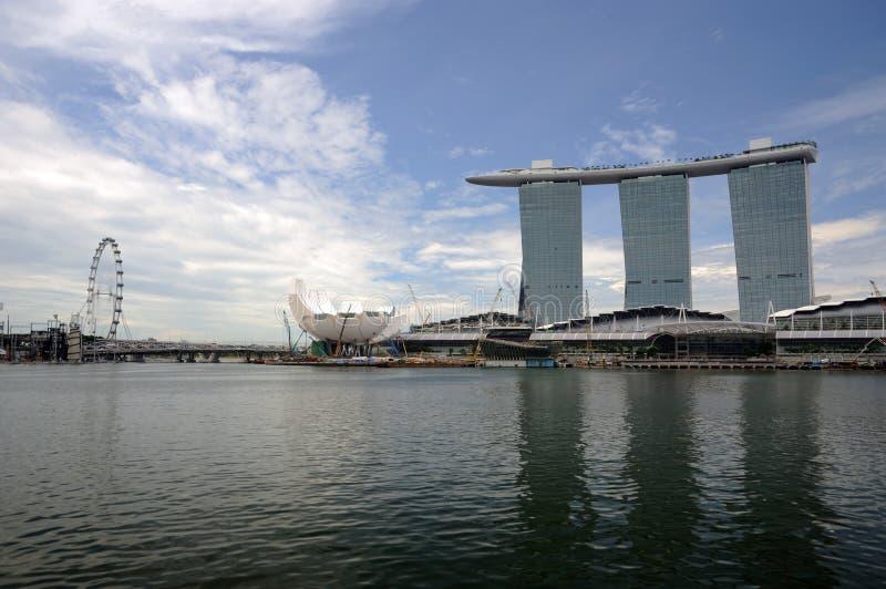Areias do louro do insecto e do porto de Singapore. imagens de stock