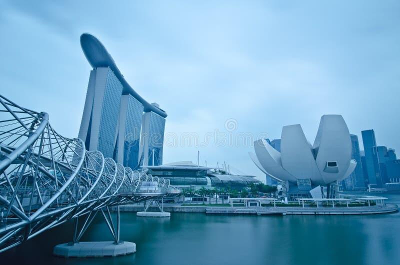 Areias do louro do porto e beira-rio, Singapore foto de stock