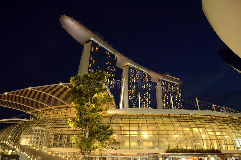 Areias do louro do porto, Singapore foto de stock