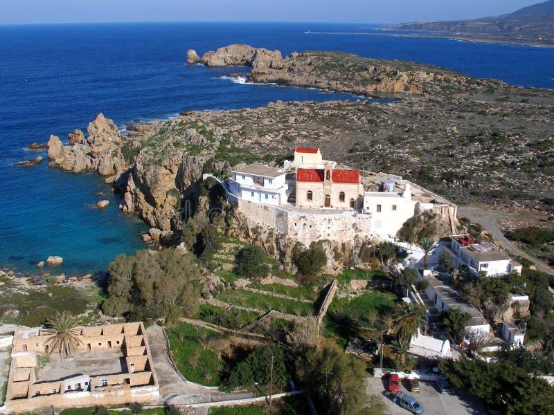 Areje a fotografia, Chrisoskalitissa, Chania, Creta, Grécia fotografia de stock royalty free