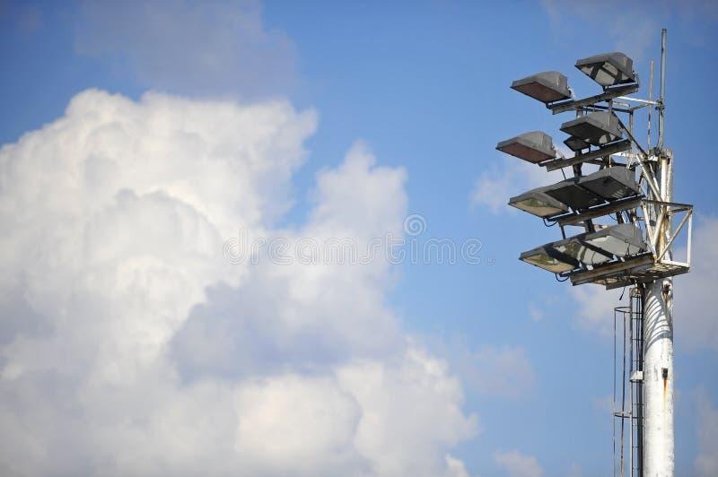 Aren sportowa floodlights zdjęcia stock