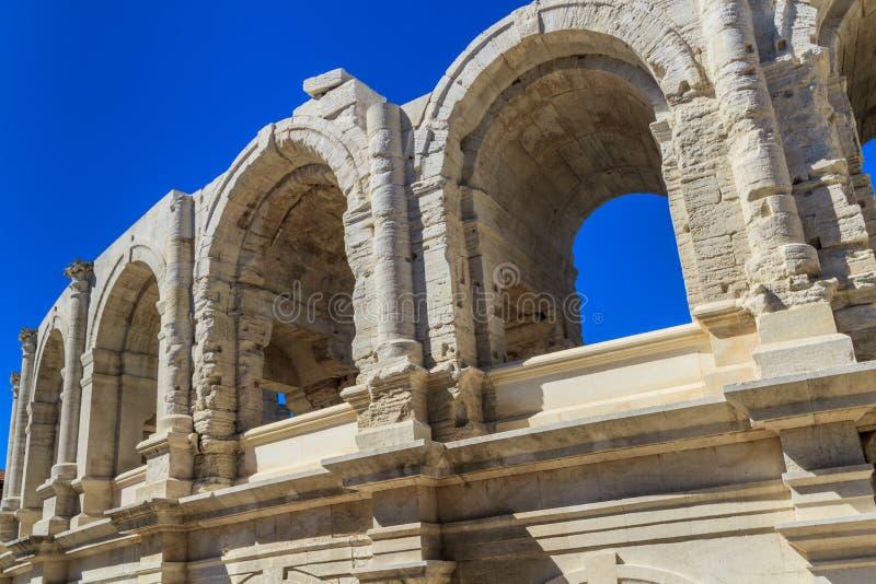 Arena/anfiteatro romani in Arles immagine stock libera da diritti