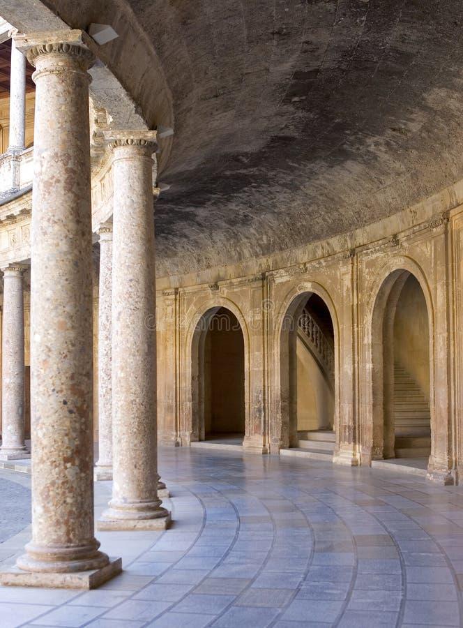 Arena antica nel palazzo di Alhambra in Spagna fotografia stock