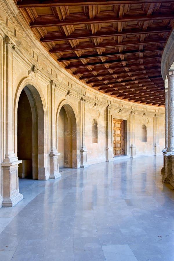 Arena antica nel palazzo di Alhambra in Spagna fotografia stock libera da diritti